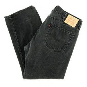Levi's 505 Jeans Straight Leg Embroidered Sz 38x29